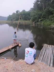 Documenting fishing activity in Sang Thong District, Lao PDR